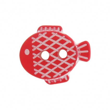 Bouton Petit poisson rouge