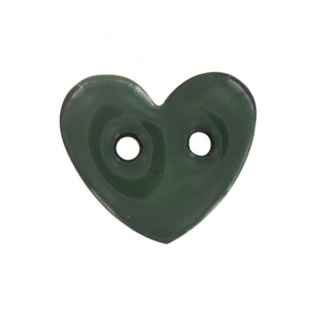 Bouton Coeur Coco peint vert