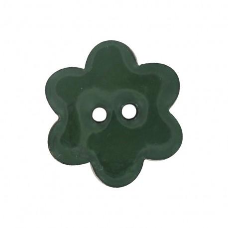 Bouton Fleur Coco peint vert