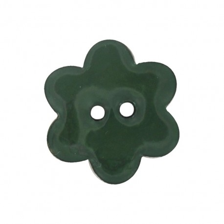Coconut flower-shaped paint button - green