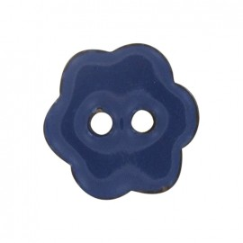 Coconut flower-shaped paint button - blue
