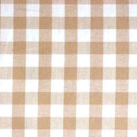 Tissu Vichy grands carreaux ficelle x 10cm