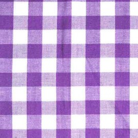 Big checked Vichy fabric - mauve x 10cm