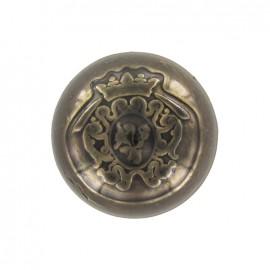 Bouton métal sphérique royal vieil or