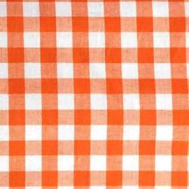 ♥ Only one piece 60 cm X 150 cm ♥ Big checked Vichy fabric - orange