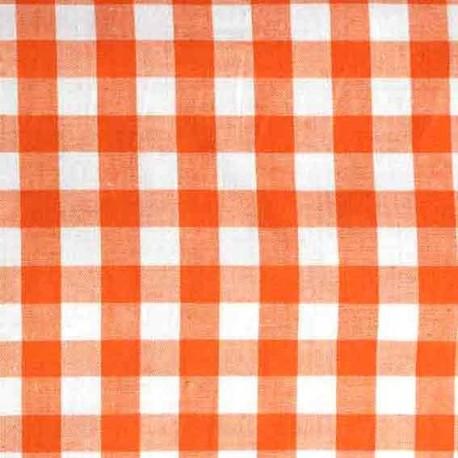 Vichy grands carreaux orange