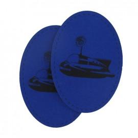 Coudière Genouillère vaisseau bleu indigo en jersey