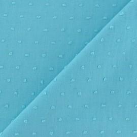 Tissu Plumetis coton - turquoise x 10cm