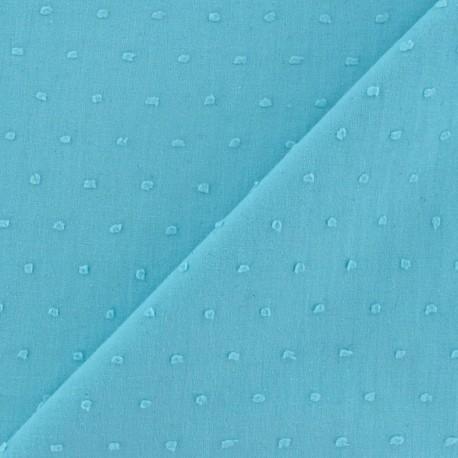Plumetis Fabric - Turquoise x 10cm