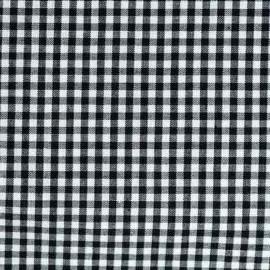 Tissu Vichy petits carreaux noir x 10cm