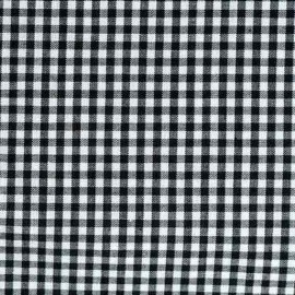 Vichy small checked fabric - black x 10cm