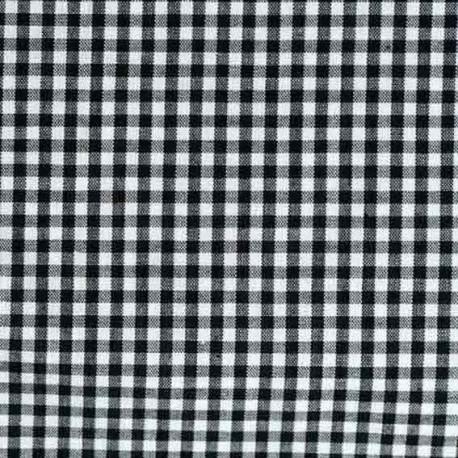 Vichy petits carreaux noir
