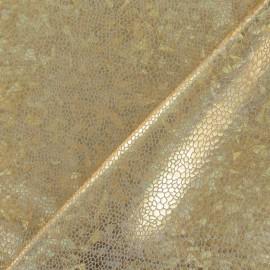 Tissu Lycra écailles doré x 10cm