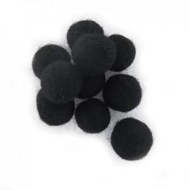 Boules en feutre noir x 10