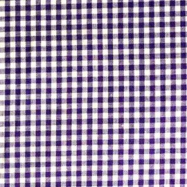 Small checked Vichy fabric - purple x 10cm
