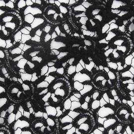 Tissu Dentelle guipure noir x 10cm