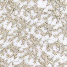 Tissu Dentelle guipure beige x 10cm
