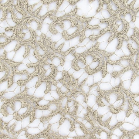 Heavy Lace Fabric - Beige x 10cm