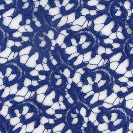 Heavy Lace Fabric - Navy Blue x 10cm