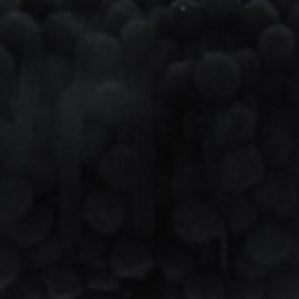 Galon petit pompoms noir