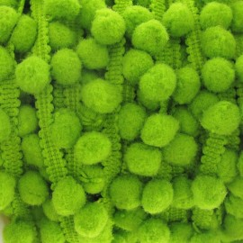 Small-sized pompom braid trimming - lime
