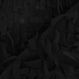 ♥ Coupon 200 cm X 125 cm ♥ Tissu Frange mousseline noir