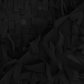 Fringe Muslin Fabric - Black x 10cm