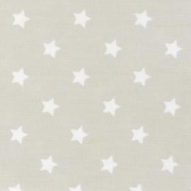 Stars Cotton Fabric - Linen x 10cm