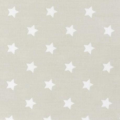 Tissu coton étoiles lin x 10cm