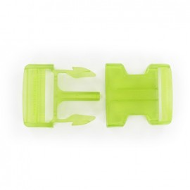 Side release buckle - lime translucent