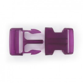 Side release buckle - purple translucent