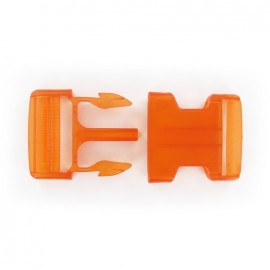 Side release buckle - orange translucent