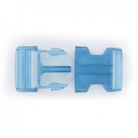 Side release buckle - blue translucent