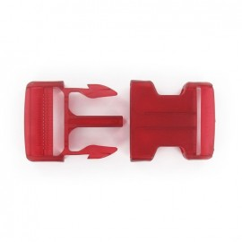 Side release buckle - red translucent