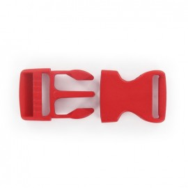 Side release buckle - red