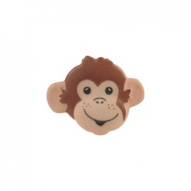 Button, monkey head - flesh-colored
