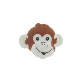 Bouton Tête de singe blanc