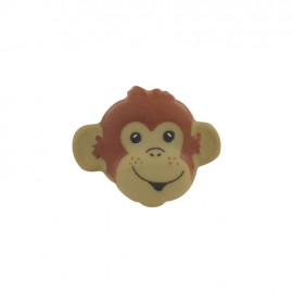 Button, monkey head - beige