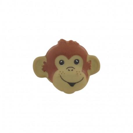 Button, monkey head - beige