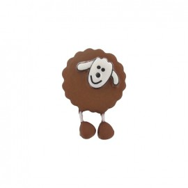 Button, sheep - light brown