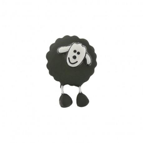Button, sheep - khaki