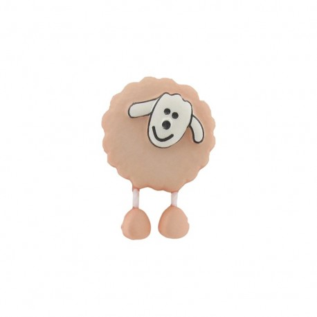 Button, sheep - flesh-colored