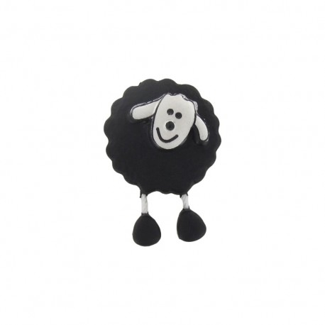Button, sheep - black