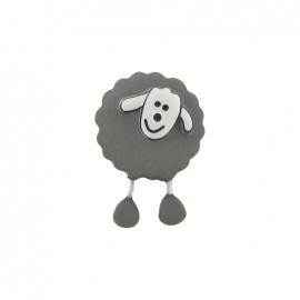 Bouton Mouton gris