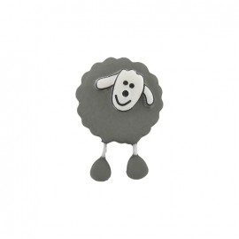Button, sheep - grey