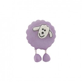 Button, sheep - mauve