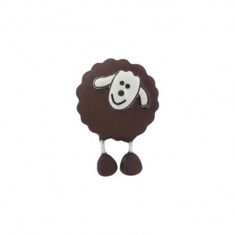 Bouton Mouton marron