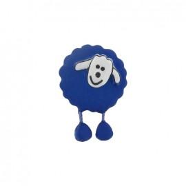 Button, sheep - royal blue