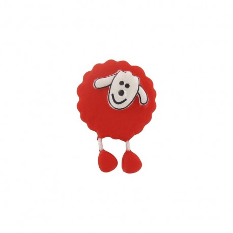 Button, sheep - bright red
