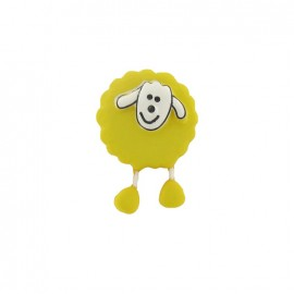 Button, sheep - yellow